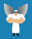 严格的天使 强有力的六翼天使 上帝的信使 监护人 库存例证