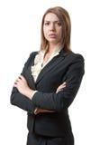 严格的妇女纵向  免版税图库摄影