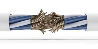 严格的电连接数 免版税图库摄影