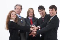 严格的businessteam 免版税图库摄影