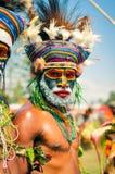 严肃的人在巴布亚新几内亚 免版税库存照片
