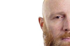 严肃的人面孔 免版税库存照片