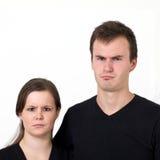 严重夫妇的表达式s 库存图片