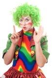 严重小丑女性的纵向 免版税库存图片
