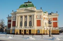 严重的伊尔库次克剧院 免版税库存照片