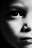 严重的儿童纵向 免版税库存照片