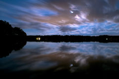 严重的夜空 库存照片