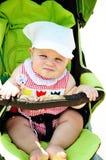 严重的婴孩 免版税图库摄影