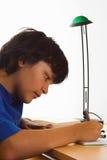 严重的家庭作业 库存照片
