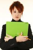 严重的教师 免版税库存图片