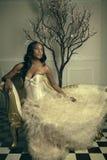 严重的新娘 免版税图库摄影