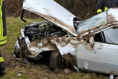 严重的车祸 免版税库存照片