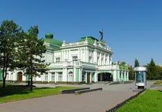 严重的鄂木斯克俄国剧院 库存照片