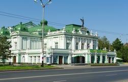 严重的鄂木斯克俄国剧院 图库摄影