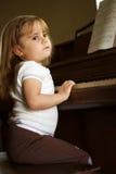 严重的钢琴演奏者 免版税图库摄影