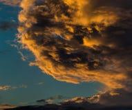 严重的cloudscape 日落云彩 免版税库存照片