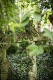 严重石头在公墓- 6 库存照片