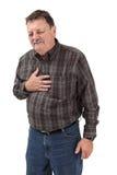 严重胸口痛 免版税库存图片