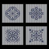 4个不同传染媒介被编织的无缝的样式 向量例证