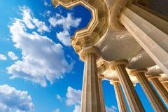 100个专栏室-公园Guell巴塞罗那 免版税库存图片