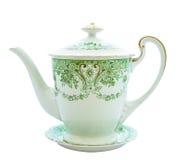 19个世纪工厂瓷俄国茶壶Th 库存图片