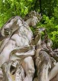 17个世纪雕塑在一个公园 图库摄影