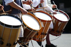 17个世纪鼓游行乐队 免版税库存照片