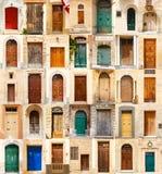35个五颜六色的色的前门拼贴画  库存图片