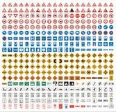 380个交通标志 库存例证