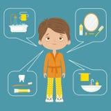 个人卫生构思设计 免版税库存图片