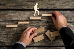个人和事业促进的概念性图象 免版税库存照片