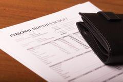个人月度预算 库存照片