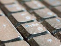 个人计算机关闭的键盘 库存照片
