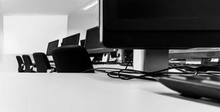 个人计算机室/透视 免版税库存照片