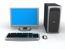 个人计算机工作区 库存照片