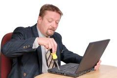 个人计算机技术人员 免版税库存图片