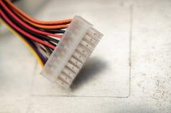 个人计算机电源插口 免版税图库摄影