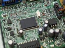 个人计算机的微芯片关闭 免版税库存图片