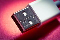 个人计算机的USB连接器 免版税库存图片