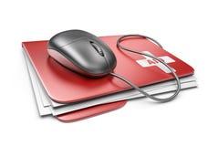 个人计算机计算机急救概念。3D象  免版税库存照片