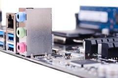 个人计算机Mainboard 免版税库存照片