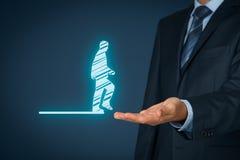 个人调动和事业 免版税库存图片