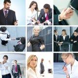 6个企业拼贴画绿色图象口气 免版税库存图片