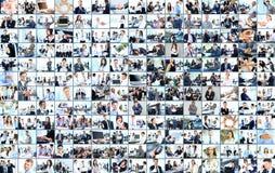 6个企业拼贴画绿色图象口气 免版税图库摄影