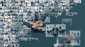 6个企业拼贴画绿色图象口气 库存图片