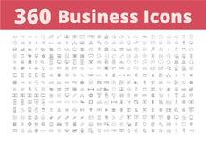 360个企业象 免版税库存图片