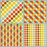 4个传染媒介几何样式 库存照片
