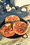 个体被烘烤的蕃茄foccacia面包 免版税库存图片
