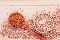 整个健康和干净的食物的五谷传统泰国米最佳的米 库存照片