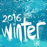 2016个冬天背景 免版税库存照片